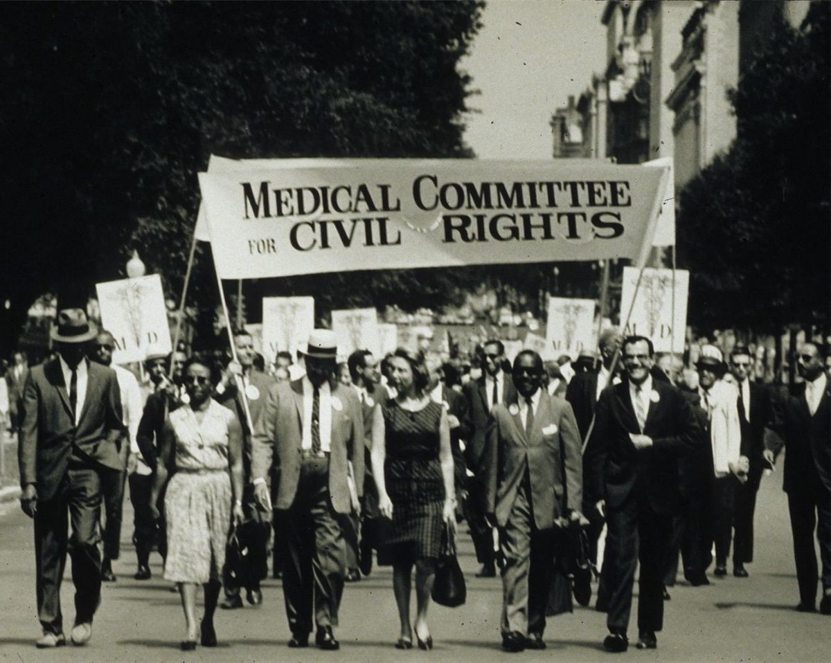 Members of the Medical Committee for Civil Rights at the March on Washington in 1963